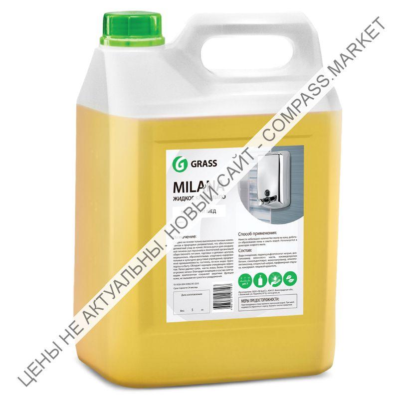 Жидкое крем-мыло MILANA молоко и мед 5л
